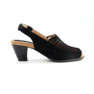 Trotters Minnie Sandals Black Nubuck 7 (EPB)4749